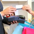 Close Up Credit Card Use — Stockvideo