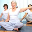 Senior Ladies Gym Yoga Class — Stock Video #17984675