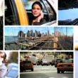 Montage Images Business New York, USA — Stock Video