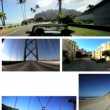 Montage P.O.V. Driving West Coast USA - Stock Photo