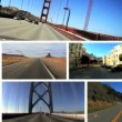 Stock Video: Montage Images P.O.V. Driving West Coast USA