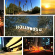 Montage of Famous City Landmarks, USA - Stock Photo