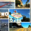 Montage Images West Coast Cities, USA - Zdjęcie stockowe