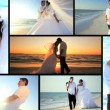 Luxury Island Wedding Montage - Stock Photo