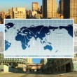 Global C.G Business Montage New York, USA - Stock Photo