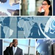 C.G World Business Montage Images, USA - Stock Photo
