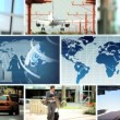 Montage Global Business C.G Images, New York, USA - Stock Photo