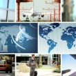 Montage World Business Images, New York, USA - Stock Photo