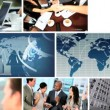 Global Business Montage Digital Images, USA - Stock Photo