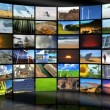 Montage Digital Media Wall Renewable Energy Sources — Stock Video