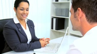 Hispanic Female Attorney Client Meeting — Stock Video