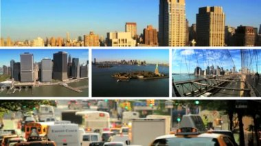 Montage City Scenes Landscapes New York, USA — Stock Video