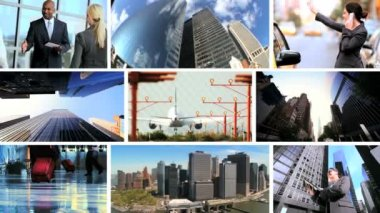 Montage Business Communication and Travel — Stock Video