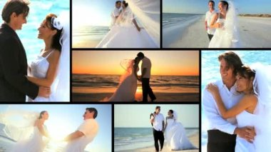 Luxury Island Wedding Montage — Stock Video