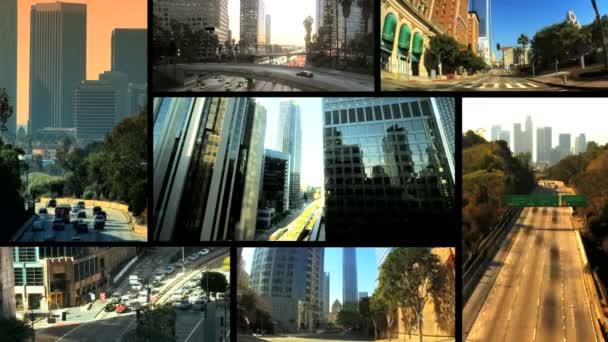 Multiple Images Los Angeles City Traffic, USA — Vidéo