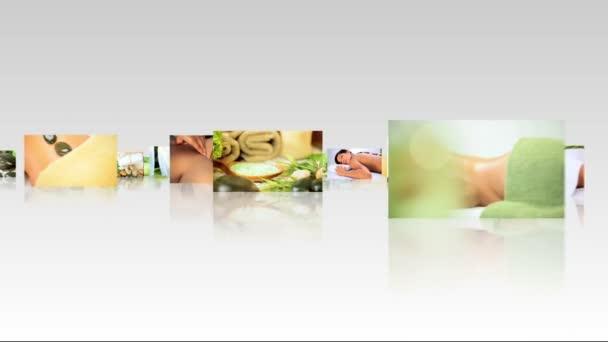 3D Montage Images Luxury Spa Treatments — Vidéo
