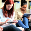 Young female study IT technology in university — Vídeo de stock