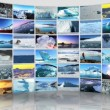 Stock Video: Montage 3D images from Polar regions