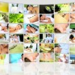 Montage 3D  female having spa treatment - Stock Photo