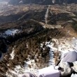 Stock Video: Paragliding high above Chamonix