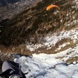 Paragliding high above Chamonix  — Stockvideo