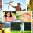 Montage Young Children Outdoor Lifestyle - Stock Photo