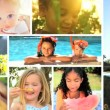 Montage Multi Ethnic Childhood — Stock Video #18278953