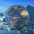 Montage Global View Earth Environment - Stock Photo