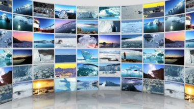 Montage 3D images from the Polar regions — Stock Video