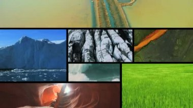 Montage view of earths  natural climate in different global  environments