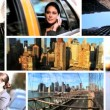 Montage Young Businesswoman City New York  — Stock Video