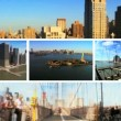 Montage view of New York City lower Manhattan — Stock Video