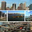 Montage New York City Brooklyn Bridge and Manhattan — Stock Video