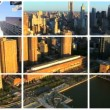 Montage view of New York City and the Financial District — Stock Video #18295229