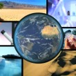 Montage Scientific Research Global Warming - Stock Photo