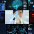 Montage Virtual Scientific Research - Stock Photo