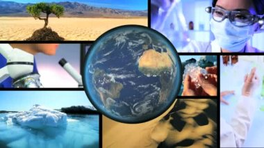 Montage Scientific Research Global Warming — Stock Video