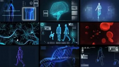 Montage 3D Medical Scientific Research — Stock Video