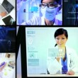Montage Researcher Touch Screen Technology — Stock Video #18300173