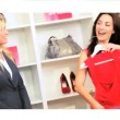 Montage Images Girls Enjoying Shopping — Vídeo de stock #18300517