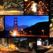 Montage time lapse view of  traffic San Francisco   — Stock Video