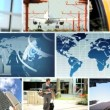 Global City Business Montage - Stock Photo