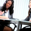 Stock Video: Diverse team leader managing conference call