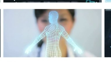 Montage Virtual Medical Research — Stock Video
