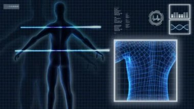 Commercial Images 3D Virtual Medical Research — Stock Video