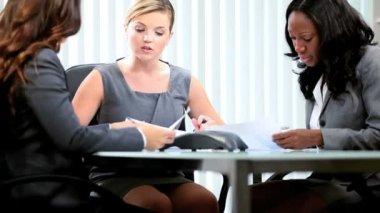 Diverse business management planning future profit shares — Stock Video