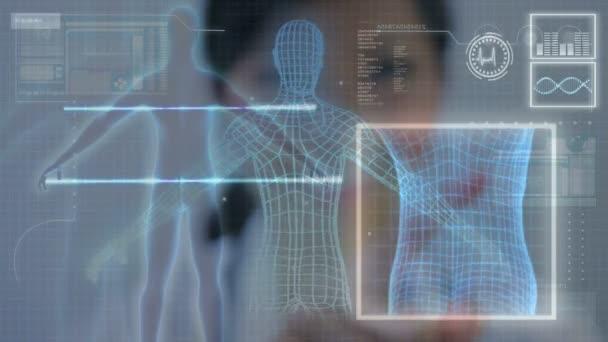 Commercial Images 3D Virtual Medical Research — Vidéo