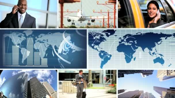 Global City Business Montage — Vidéo