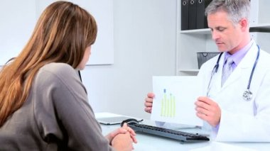 Consultor médico reunião conselheiro bancário — Vídeo stock