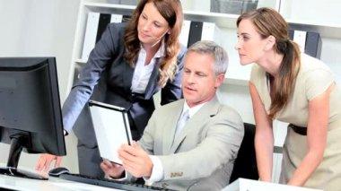 Caucasian Commodity Management Team Meeting — Stock Video